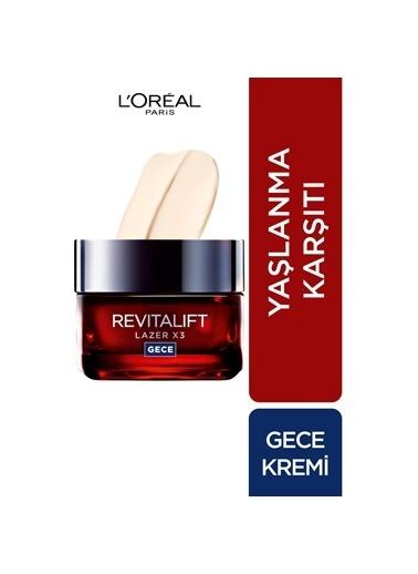 L'Oréal Paris Revitalift Lazer X3 Yoğun Yaşlanma Karşıtı Gece Bakım Kremi Renkli